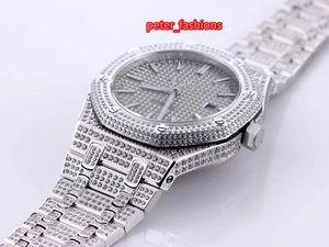 Top quality men's watch gray dial shiny diamond fashion hot men watch popular automatic diamond watch