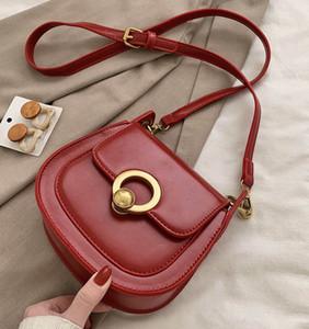 PU Sacs de selle en cuir pour les femmes de la mode épaule Messenger Bag Lady Solid Color Sacs à main solide