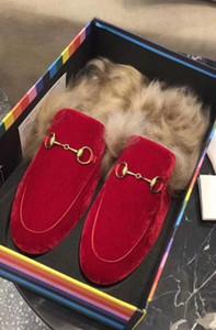 dames hommes Souliers simples hommes de femmes en plein air Femmes Chaussons Flats cheveux Rabbit Fur chaussures Slipper Diapositives femme hommes Mulets h3 Confortable