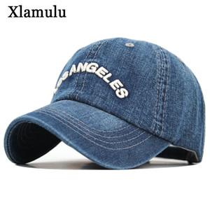 Xlamulu Denim gorra de béisbol hombres mujeres Jeans Snapback Caps Casquette Plain Bone sombrero Gorras hombres Losangeles Casual papá hombre sombreros