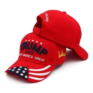 trunfo Red Hat 2020 Fortaleza Vermelha tornar a América Grande bordados de algodão Caps barato Donald Trump Trump touca dgAdh
