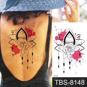 sexe tatouage pour les filles manches femme tatouages autocollants dentelle henné corps dos poitrine de tatouage bras fleur de lotus mandala tatoo faux noir