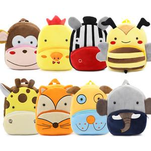 New Kawaii Stuffed Plush Kids Baby Toddler School Bags Backpack Kindergarten Schoolbag for Girls Boys 3D Cartoon Animal Backpack Y200706