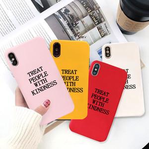 GYKZ Harry Styles personas se tratan con amabilidad caja del teléfono para el iPhone XS MAX 11 78 caramelo cubierta de silicona suave color Pro X XR