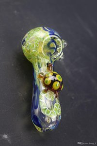 New Arrival Glass Hand Pipe Hookah Glass Pipes Smoking Tobacco Hand Pipes Spoon Pipe Dab Rigs Glass Bubbler