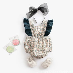 Fashion Baby Romper Newborn Baby Girl Clothes Sleeveless Belts Green Romper Jumpsuit Summer Outfit 0-18M