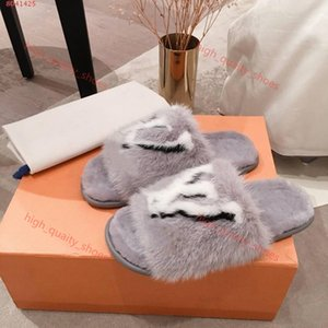 Size 35-42 Sweet Candy color Soft Warm Fur Slippers Women real Full Mink Hair fuzzy slippers slides Xshfbcl women open toe flat shoes