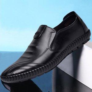 Loafers Zip Mann Schuhe Herren Loafer PU-Leder atmungsaktiv beiläufigen Mens-Schuhe Frühlings-Herbst-Driving-Schuh Männer Mokassin 2020