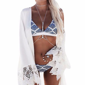 designer swimwear Sexy Ladies Floral Halter Thong Biquini Swimsuit Swim Beach Wear Bathing Suit Swimwear Women Brazilian Push Up Bikini