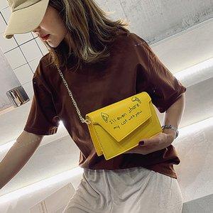 Pure Color Chain сумка с магнитным Пряжка для женщин Новые сумки на ремне, простой дизайн моды сумки