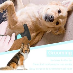 Excellent Durable Pet Grooming Brush Shedding Tool Comb Hair Removal Grooming Rake Dog Accessories Dog Supplies
