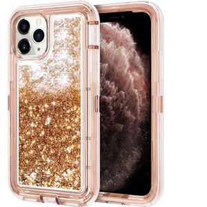 Для iPhone XR Case 3 in 1 Hybrid Heavy Duty Defender блестящий плавающий жидкий блеск мягкий TPU бампер задняя крышка для I phone 11 Samsung S20