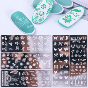 Nail Art Stamping Plates Set With Butterfly Flower Snowflake Design Nail Image Stamper Template For Nail Salon Manicure Accessories