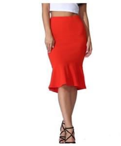 Womens Designer sirène Empire Robes mode couleur unie sexy jupes courtes d'été Slim Fit Hip Vêtements