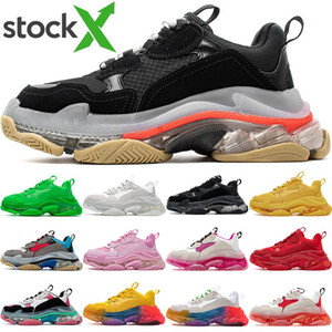 2020 Luxe Cristal Chaussures Casual Triple Bottom S piste 2.0 Designer Old Dad Sneaker combinaison d'azote Outsole Hommes Tripler Sneakers 36-45