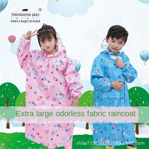 Handsome jazz odorless big brim Cloak cloak children's raincoat high quality environmental protection belt big bag poncho