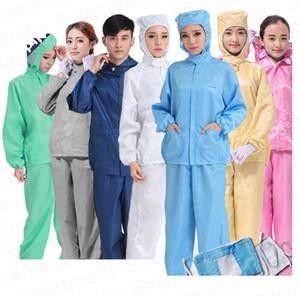 2020 Vêtements De Protection Anti-poussière gouttelette vêtements de travail Costume Deux Pièces Veste À Capuche + Pantalon Multi Fonction vêtement S-4XL E32411