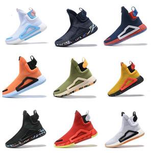 Erkekler Eğitmenler Primeknit Spor Sneakers US7-11.5 için Orijinal N3XT L3V3L Duvar Mitchell Kaptan Amerika Gece Mavisi Graffiti Basketbol Ayakkabıları