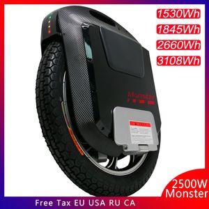 2019 Gotway Monster v3 22inch электрический одноколесный велосипед 100V 1845WH / 3108WH 2500W мотор сажа Bluetooth динамик 21700 аккумуляторная батарея супер доска