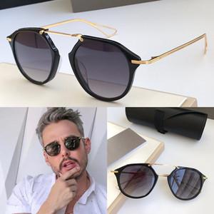 Nuevas gafas de sol de lujo diseñador de los hombres de la vendimia gafas de sol estilo del fshion KOH marco redondo UV 400 lentes vienen con el caso original