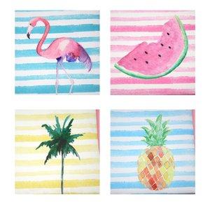 DHL impermeabile 2019 Borsa PU Donna Watermelon Beach Stripes Bande da nappa Patten Patten Zipper 50pcs Frutta con cosmetico 4Colors KQUPP