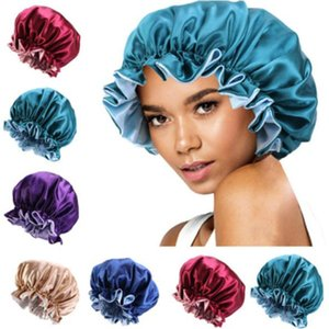 New Silk Night Cap Hat Double side wear Women Head Cover Sleep Cap Satin Bonnet for Beautiful Hair - Wake Up Perfect Daily Factory Sale a96