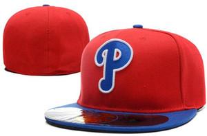 New Hot On Field Phillies chapéu cab Cap Qualidade Superior plana Borda embroiered Carta Equipe P logo fãs chapéus de beisebol boné cheio fechado 00