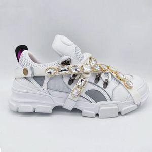Gucci sports shoes Sapatilhas Flashtrek com cristais amovíveis Sapatos De Luxo Sapatos hocococal estilista de luxo sapatos de mulher ténis do tamanho 35-45