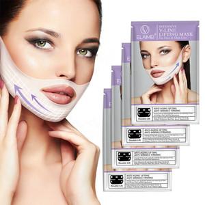 neue heiße V-Shaped V Gesicht Sculpting Kinn Masken-Ansatz-Schablone Patch-Doppelkinn Reducer Halslift Feuchtigkeitsmaske V Gesicht Kinn Wange Lift Up Mask