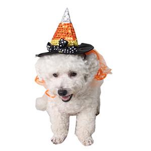 لوازم الحيوانات الأليفة هالوين قبعة الساحرة مضحك لطيف الأزياء قبعات القط الكلب حزب قبعة القبعات الساحرة حزب قبعة الجرو القطط الأليفة القبعات TQQ BH2344