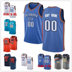 Personalizado 0 Westbrook Danilo Gallinari 8 OklahomaTrueno Chris Paul 3 Steven Adams 12 2-Gilgeous Alexander personalizada jerseys del baloncesto