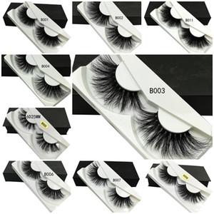 NOUVEAU 25mm Longue Faux Cils Vrai 3d Cils De Vison 5d Vison Cils Extension Naturel Doux Cils Maquillage Outil
