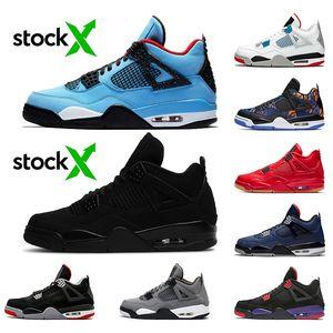De Stock x Travis Scott 4 4s Black Cat 2020 Airretrotênis de basquete Jordan Mens O The Singles Dia Cinza frio formadores sneakers