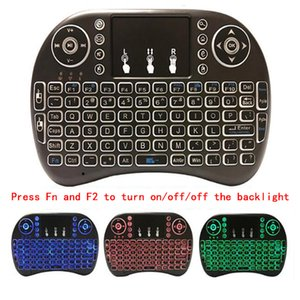 Mini wireless keyboard i8 2.4G Multi Color Backlit keyboard Mini Android TV Box Remote Control for Tablet PC smart TV