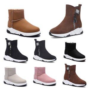 Designer Shoes sin marca Speed Trainer casual zapatos del calcetín marrón rosado Negro Beige planas mujeres de la manera Calcetines Runner zapatillas de deporte 36-40 de estilo # 25