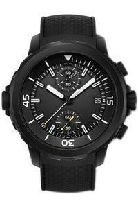 رجل حزام ساعة ساخن 42 ملليمتر الأسرة IW379503 VK متعددة الوظائف الطلب الأسود أكواتيمر كرونوغراف مطاط أسود بيع الياقوت ساعة اليد Joeuc