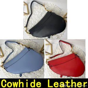 Designer Handbags Saddle bag Genuine Leather With shoulder strap Metal pendant Shoulder bags women Luxury Designer handbag Come with Box