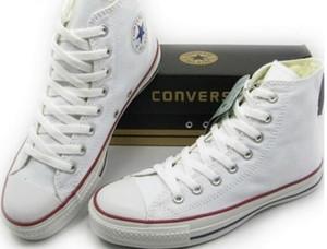 C12 gota a estrenar del envío 15 colorean todo el tamaño 35-45 top del alto de estrellas del deporte la mujer calzado casual zapatos top del punto bajo de la lona clásica de las zapatillas de deporte de los hombres