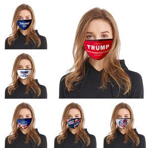 Donald Trump designer face Mask Face Mouth Masks Funny Anti-Dust Cotton USA Woman Men Unisex Fashion Washable masks 18 Styles Mask