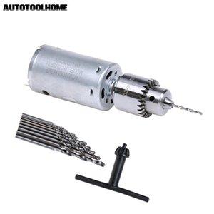 Outils électriques perceuse électrique 12V DC moteur électrique de petite perceuse à main PCB Presse Drilling CompactSet avec 10PC 0.5-3mm Twist Bits 0.3-4mm