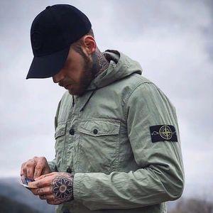 20ss ретро куртки полосатая деталь разрывостойкая решетка импортированный черный двухцветный азиатский размер махровая ткань металлический нейлоновый пуловер для мужских толстовок