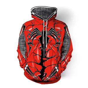 Sıcak Film Venom Spiderman Cosplay Kostüm Süper Kahraman Örümcek Adam Kırmızı Hoodie Tişörtü Ceket Cadılar Bayramı Partisi Kadın Adam Için