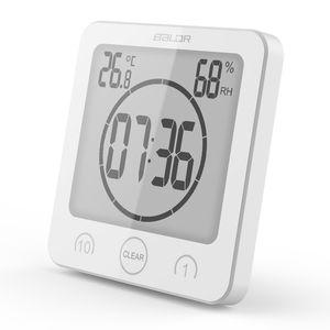 Digital resistente al agua de baño de ducha pared soporte de reloj temporizador temperatura humedad del higrómetro del termómetro temporizador de cocina relojes de alarma DBC BH3512