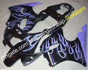 Beliebte Motorrad Cowlings für Honda CBR900RR 893 94-95 CBR CBR893 893RR 1994-1995 CBR893RR Lila Flamme Schwarz Motorradverkleidung