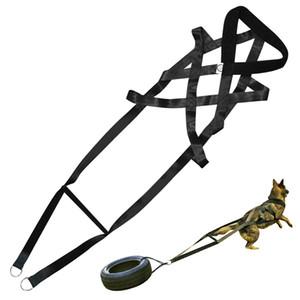 Peso del perro que tira del arnés de nylon fuerte mascotas Arneses de pastor alemán K9 perros grandes agilidad producto del perro Productos de Formación