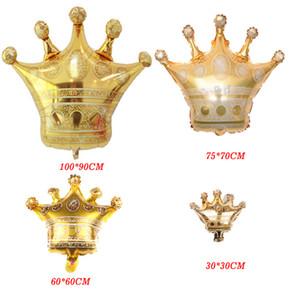 Les grands ballons de feuille d'or de la couronne de princesse Couronne de ballon d'hélium pour le mariage joyeux anniversaire décoration bébé fête