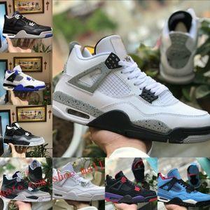 2019 Nike Air Jordan 4 retro jordans Pure Money Motorsport Schwarz Infrarot NRG Raptors Basketball Schuhe Schwarz Weiß Zement Graffiti Kaktus Herren 4 Bred Turnschuhe