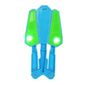 Niños interesantes Flip Butterfly Knife Flipper mitigador del estrés Juguete de dedo Twirl It LED Master Light Up Finz 100 Trucos Juguetes al aire libre
