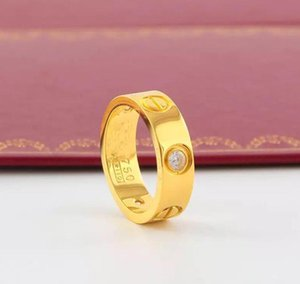 2020 Hot Boutique 316L Love Titanium Steel Nails Rings Lovers Band Rings Size For Women And Men Brand Jewelry NO Original Box p1145