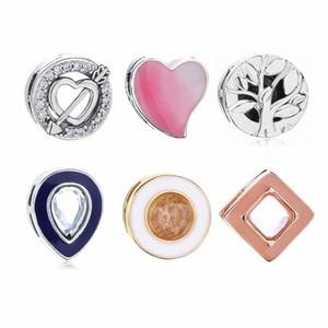 % 100 925 Gümüş Reflexions küçük çekicilik için Avrupa Pandora Çeşitli Reflexions Örgü bilezik